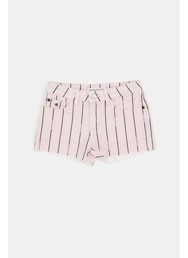 Calvin Klein Kız Çocuk Çizgili Şort 20SS1CK0541 Renkli